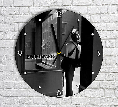 Vintage City Lady Woman Girl - Round Wall Clock For Home Office Decor