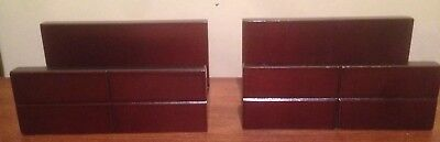 Lot Of 2 Wooden Business Card Holder Display