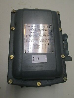 General Electric CR1062 S17A 10 HP Manual Motor Starter In Explosion Proof Box