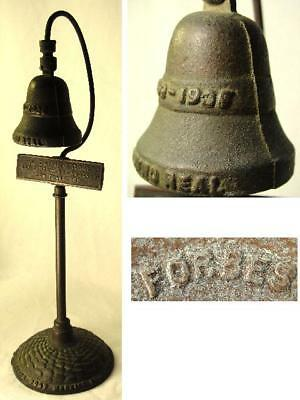 Antique Forbes Bronze El Camino Real Mission Bell Guide Post Marker Souvenir Vtg