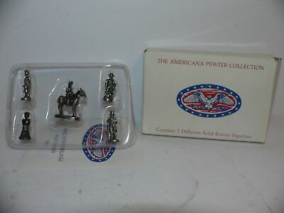The Americana Collection 5 Miniature Accessory Set Ah-19  Pewter  Set  1992