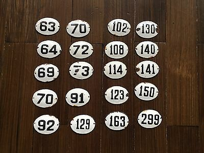 Vintage Enamel House Numbers from Europe House Number Room Number Hotel Bath SPA