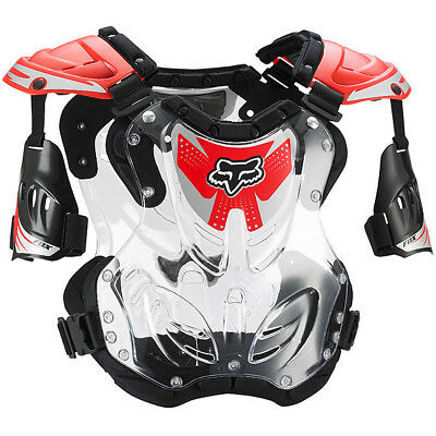 Fox Racing NEW Mx Youth R3 Clear Red Chest Protector Motocross Kids Body Armour
