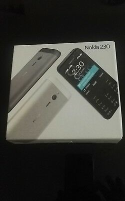 Brand New Nokia 230 Dual Sim Unlock Mobile Phone -Dark Silver Colour