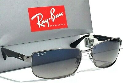 0b6b9bae53 NEW  Ray Ban Gunmetal   Black w POLARIZED Grey Blue Lens Sunglass RB 3478  004