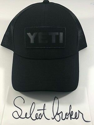 b62f5dad6ce98 YETI COOLERS BLACK on Black Patch Trucker Hat -  36.62