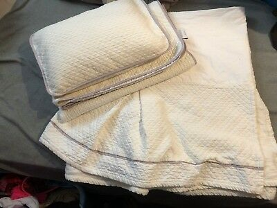Restoration Hardware Baby and Child Lilac Boudior Sham Crib Skirt and Swatch