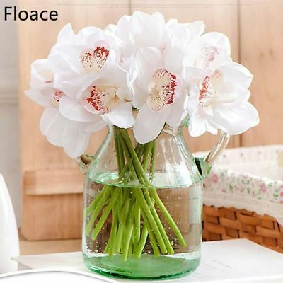 Real Touch cymbidium 7 heads Short shoot table decoration flower DIY wedding bri