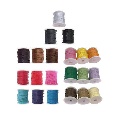 3 Rolls 80 Meters Waxed Nylon Cord Thread DIY Necklace Jewelry Making String