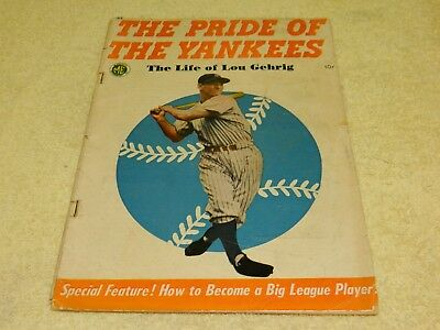 1949 Magazine Enterprises The Pride of The Yankees The Life of Lou Gehrig Comic