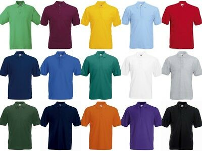 Mens Polo Shirts Fruit of the Loom Polo Shirt Top SS402