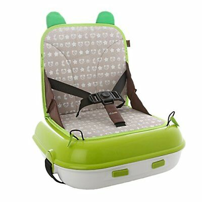 Lil' Jumbl Best Child Booster Seat | Travel Carry Pack Storage (Green)