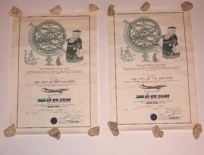 Air New Zealand Certificate of Crossing the International Line Equator 1969 (2)