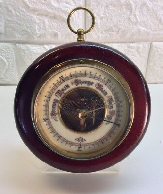 Vintage Aneroid Barometer, Porcelain Face With Exposed Movement, Germany, Works