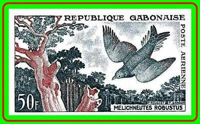 GABON 1961 FOREST BIRD SC#C4 imperforated  MNH CV$20.00 TREES