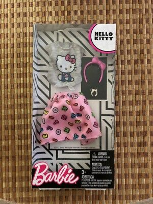 Barbie Fashions HELLO KITTY Gray Top & Pink Skirt SUPER CUTE! NEW IN BOX!