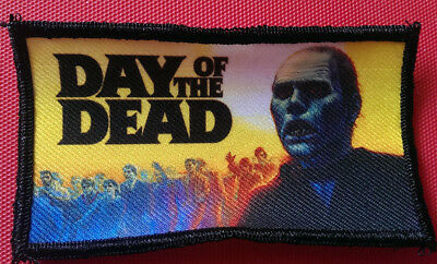"""☆ Day of the Dead Romero Zombie  4.5 x 3"""" Classic Horror Movie Poster Patch ☆"""
