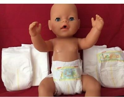 5 Dolls Disposable Nappies Fit Baby Born Baby Annabell Tiny Tears Reborn 15-20""