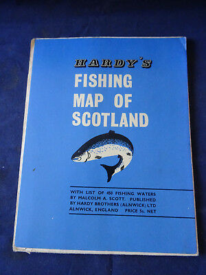A Vintage Hardy Fishing Map Of Scotland