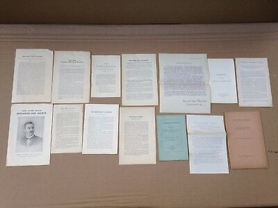 12 Antique Dr Albert Leffingwell Leaflet/pamphlets Anti-Human Animal Vivisection