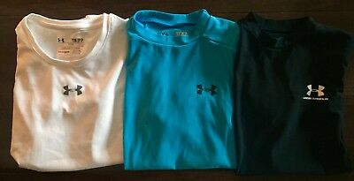 Under Armour Lot Of 3 Girls Athletic Shirts Small GUC