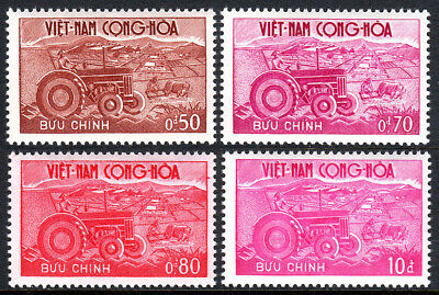 Viet Nam South 150-153,MNH.Agricultural Development Center.Tractor and Plow,1961
