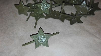 3pcs Soviet Russian Army Military Uniform Hat Red Star Pin Badge for pilotka