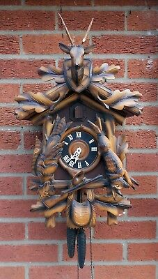 Vintage Large Hunting theme Cuckoo Clock for restoration
