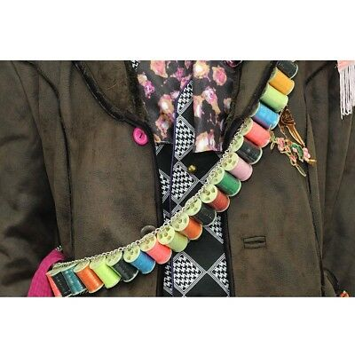 Exact Mad Hatter BANDOLIER Thread Belt Colourful Yarn costume bandoleer props