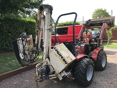 TWOSE/ROUSSEAU COMPACT TRACTOR Flail Hedge Mower Verge Cutter Grass Ditch