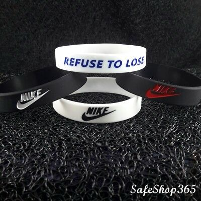 2x Mens Kids Wristband NIKE REFUSE TO LOSE Baller Band  Silicone bracelet Sport
