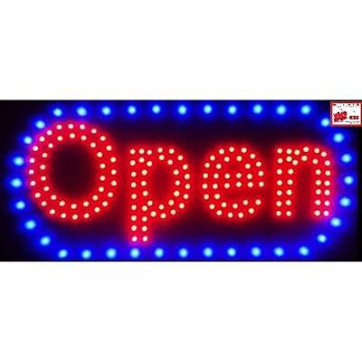 "Open Horizontal LED Neon Sign 20x10"" Now Brighter And Bigger With On/off +"