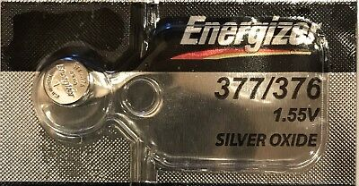 Energizer Battery Silver Oxide 377/376 SR626SW SR626W - New and Sealed - 1 Piece