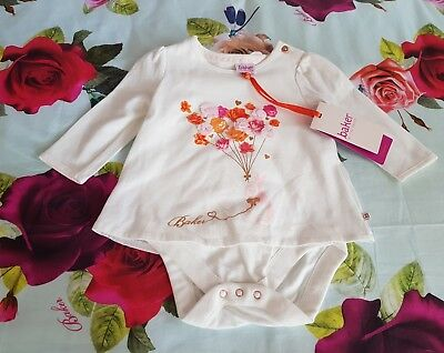 Baby Girls 🐇TED BAKER🐇 Bunny Vest With 3D Flowers 6/9 months BNWT💐