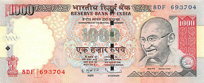 India 1000 (1,000) Rupees, 2011 About Uncirculated AU