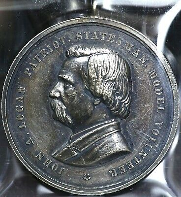 1887 CIVIL WAR 21st NATIONAL ENCAMPMENT GRAND ARMY OF THE REPUBLIC SILVER MEDAL