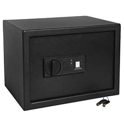 "Ivation Biometric Digital Home Safe – 9.8"" x 13.7"" x 9.8"" Home Security Box With"