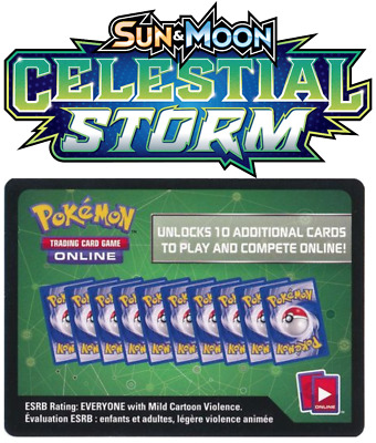 2x Sun and Moon Celestial Storm TCGO Online Code Pokemon Cards - Fast