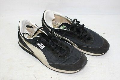 Vintage Rare Puma Cyclone II Size 7 1/2 Running Shoes Black And White