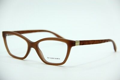 33e049aa090d NEW BURBERRY B 2221 3575 Brown Eyeglasses Authentic Rx B2221 53-17 ...