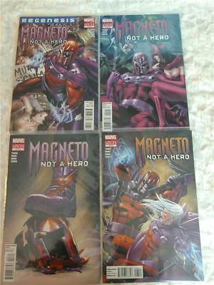 Lot of 4 Marvel Comics Magneto Not A Hero Issues 1 2 3 4 Direct Edition Comics