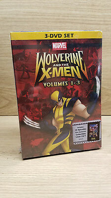 Wolverine and the X-Men: Vols. 1-3 DVD 2009 3-Disc Set NEW