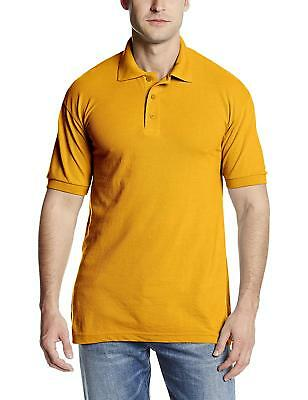 New Dickies Men's Pique Performance Polo Shirt -Gold Bright Yellow S/M/L/XL/2XL