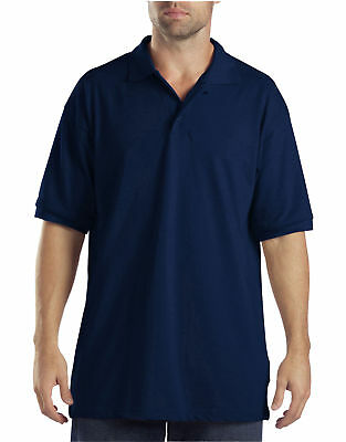 New Dickies Men's Short Pique Performance Polo Shirt -Dark Navy S/M/L/XL/2XL