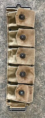 WW1 BAR Bandolier ? 5 Pouch Marked Long 11-18 Left