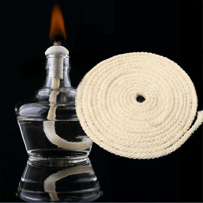 3M/10ft Candle Low Smoke Pre Waxed Wick with Tabs Sustainers Cotton Core Lamp
