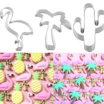 Cartoon Cookie Cutter Mold Flamingo Pineapple DIY Biscuit Baking Mould Kitchen