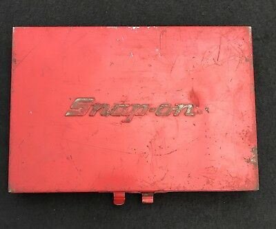 Snap On Corp Mechanics Tool Box Small Socket Set Size KRA-275A Red Metal