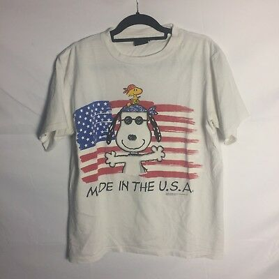 ab9a7006b7 VINTAGE 90S SNOOPY Made in USA Shirt Sz L -  20.00