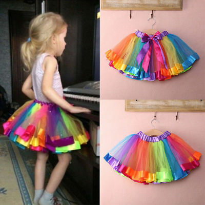 AU Baby Girls Birthday Dress Toddler  Tutu Skirt Headband Outfit Clothes 1T 2T